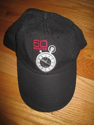 60 MINUTES Stopwatch (Adjustable) Cap MIKE WALLACE DAN RATHER LESLEY STAHL