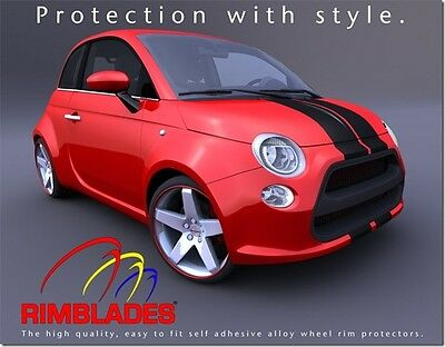 Red RIMBLADES FLEX ALLOY WHEEL RIM PROTECTORS/PROTECTION/GUARDS