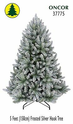 5ft Eco-Friendly Oncor Frosted Silver Christmas Tree