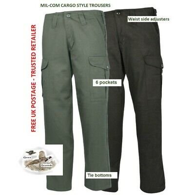 Men's Khaki Green  Cargo Trousers. Hunting, Shooting, Fishing