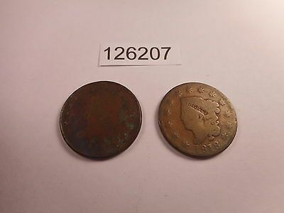 1818, 1810 Large Cents - Low Grade Problem Coins - As Shown - # 126207