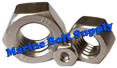 Type 316 Stainless Steel Hex Nuts (Sizes 4-40 to 3/4-10)
