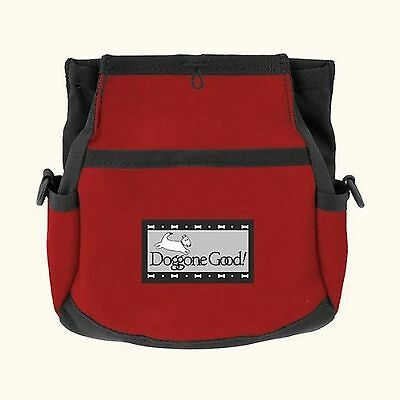 Doggone Good Rapid Reward Treat Bag - Red WITH BELT.  Shipped from the UK.