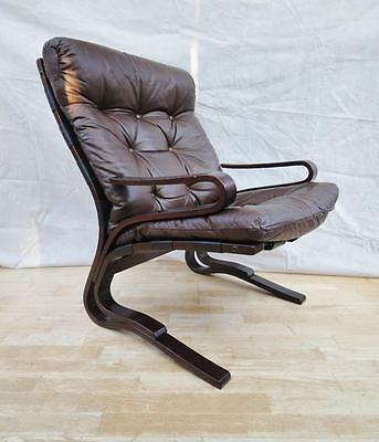 Mid Century Retro Danish Westnofa Beechwood &   leather Lounge Armchair 1960s