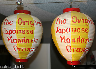 2x Japanese Lanterns The Original Japanese Mandarin Oranges Vintage Advertising