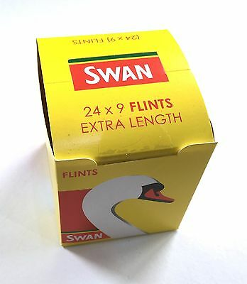 1 2 6 12 24 X 9 SWAN Lighter Flints Extra Length Replacement Flint 9 pcs Pack