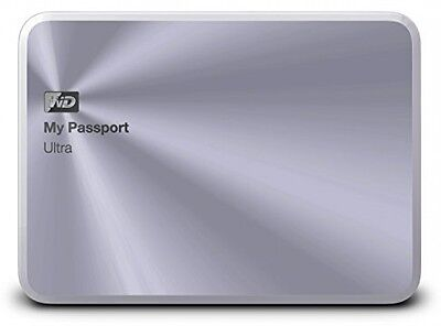 WD 2TB Silver My Passport Ultra Metal Edition Portable External Hard Drive - -