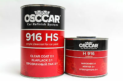 OSCCAR HS 916 2K FAST CLEARCOAT 1.5Lkit CRYSTAL CLEAR ANTI SCRATCH LACQUER+ HARD