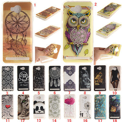 Patterned Ultra Slim Rubber Soft TPU Silicone Back Case Cover For Huawei Models