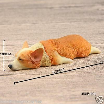 8.8cm Lovely Sleepy Welsh Corgi Figure Figurine Fridge Magnets Christmas Gift