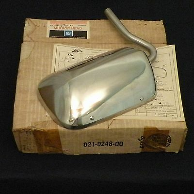 NOS 79-84 Chevy G1,2,3 Van Outside Rear View Mirror Head *Stainless* GM 996226