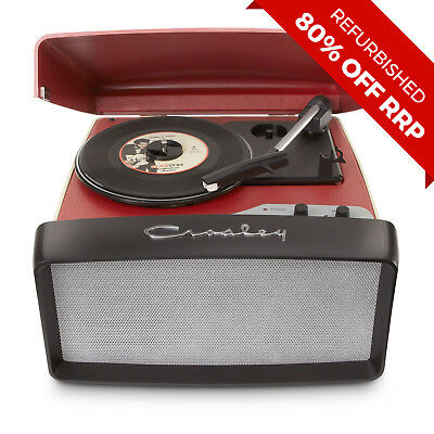 Crosley Collegiate Turntable - Red (Refurbished) - CR6010A-RE