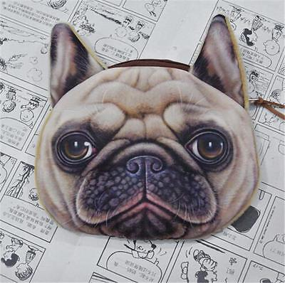 Pug purse, zipper, 3D print, girls, womens, coin purse, cute! - FREE POST!