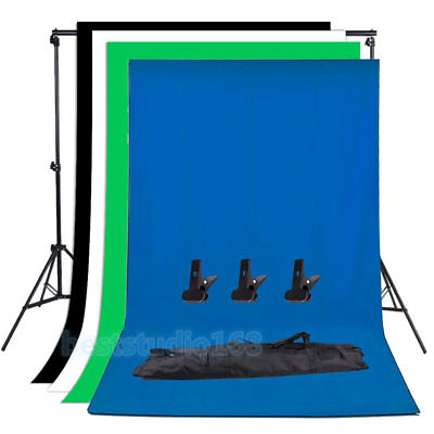 Photo Studio Black White Green Blue Backdrop Chroma Key Screen Background Stand