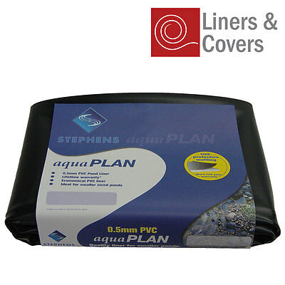 Stephens PVC Pond Liner | 0.5mm Quality Garden Fish Pond Liner (Multiple Sizes)