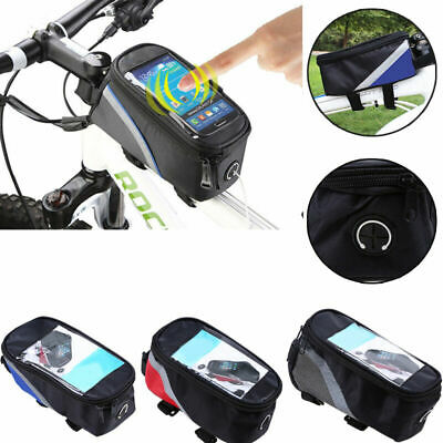 Outdoor Mountain Bike Top Tube Bag Bicycle Pouch Cycling Frame Front
