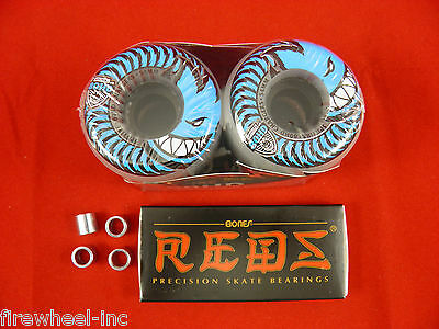 4 x SPITFIRE 56mm / 80HD Chargers Conical Skate  -SKATEBOARD WHEELS+ BONES REDS