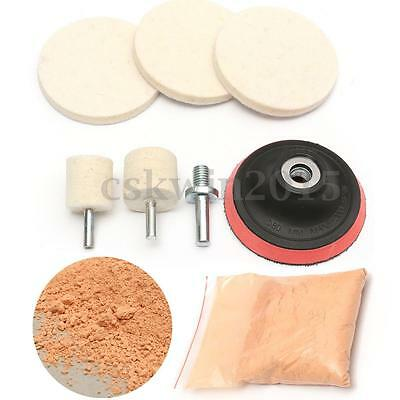 "8 OZ Cerium Oxide Glass Scrach Remover Polishing Tool Kit With 3"" Polishing Pad"