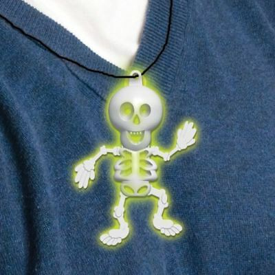 Halloween Glow In The Dark 8cm Skeleton Necklace Halloween Kids Party Favour
