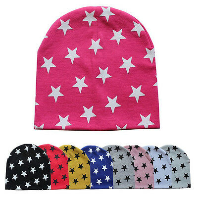 Autumn Winter Boy Girl Child Baby Toddler Kids Cotton Stars Soft Hat Beanie Cap