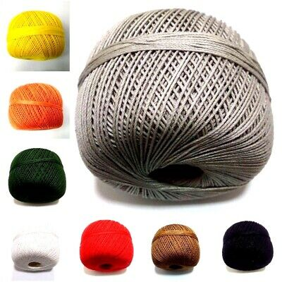 100 gm Size 16 Cotton Thread Yarn Gassed Mercer Knitting Crochet Lace Embroidery