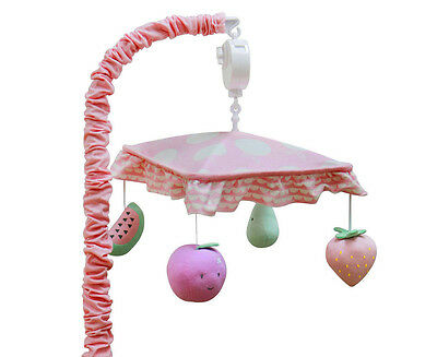 Little Cloud Berry Sweet Musical Mobile - Pink/Multi