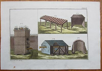 Spalart: Ancient Greece Rome Fortification Rare Large Handcolored Print - 1800
