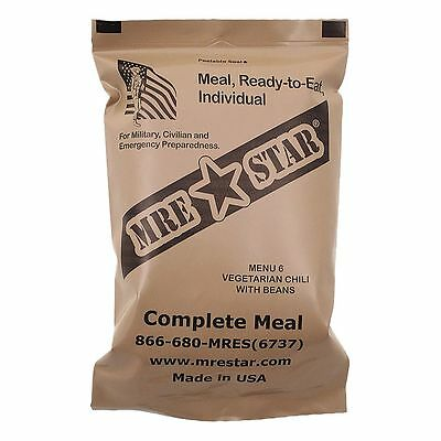 MRE Star Ready-to-Eat menú chile vegetariano