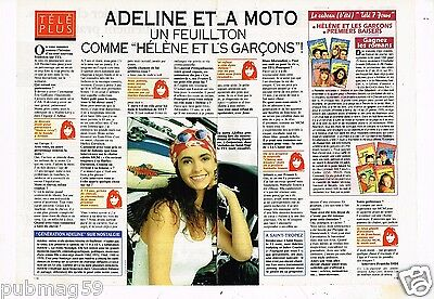 Coupure de presse 1994 (2 pages) Adeline Blondieau et la moto