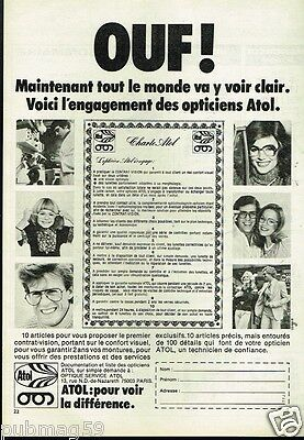PUBLICITÉ ADVERTISING 1978 Opticien KRYS lunette monture optique ... ebd77e3a5892
