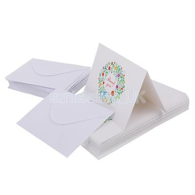 50pcs Wedding Bridal Shower Retro Floral Thank You Cards with Envelopes