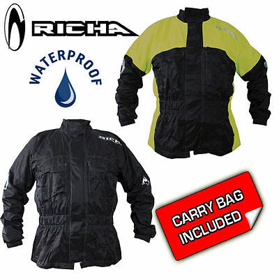 Richa Rain Warrior 100% Waterproof Motorcycle Scooter Bike Over Suit Jacket Top