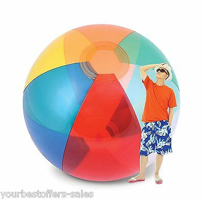 Giant Beach Ball Humongous Inflatable Beach Ball Colorful Water Toys Pool toys
