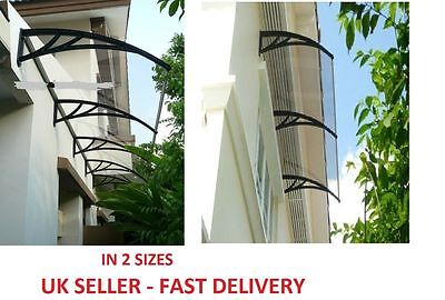 100% Front Door Porch Canopy Awning Roof Rain Shade 3 Colours Various Sizes