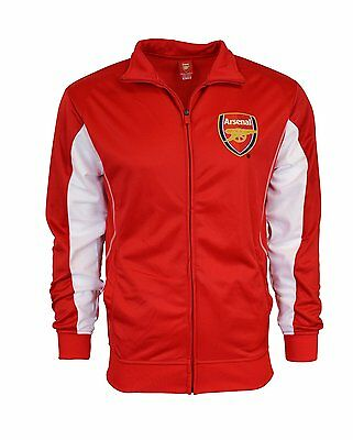 size 40 ec6e1 cc98b ARSENAL FC JACKET Adult track zip up hoodie Red white Adult S,M,L,XL