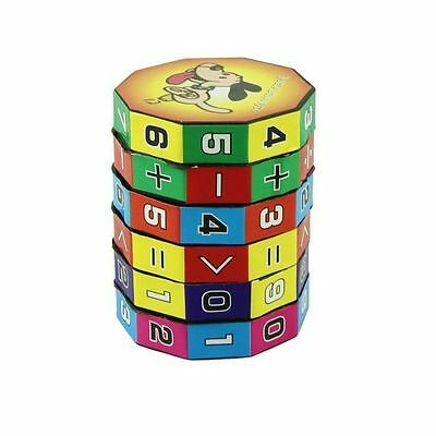 6 Layers Kids Cube Puzzle Play Number Maths Children Fun Education Toy Gift