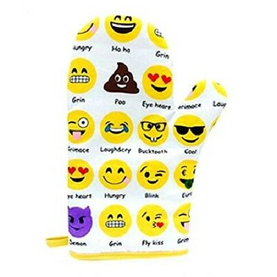 Novelty Cute EMOJI Icon Oven Mitten Glove With Hanging Loop