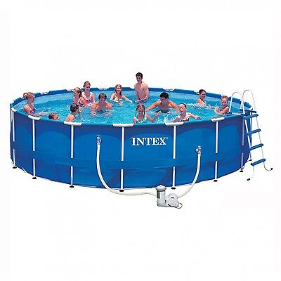"Intex Metal Frame Pool Package 18ft x 48"" - 28252"