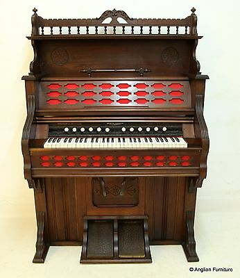 Victorian Pedal Organ Clough & Warren Circa1888 Working Free Nationwide Delivery