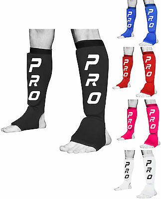 Shin Instep Pads MMA Leg Foot Guards Muay Thai Kick Boxing Guard Protector