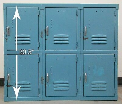 """Used Wall Mount Storage Lockers (6 Openings a set) 12""""W x 12""""D x 30.5""""H"""