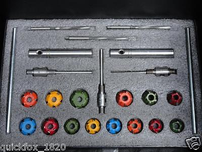 Carbide Tipped Valve Seat Cutter Kit 24 Pcs Fast & Economical Restoration System