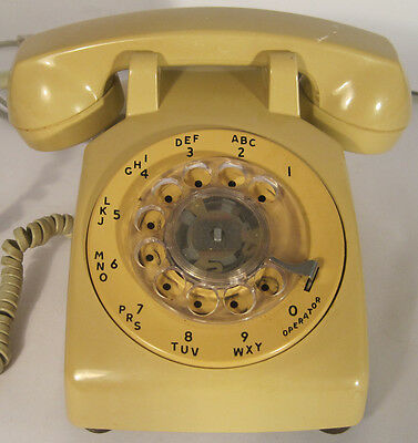 Vintage Rotary Dial Telephone Stromberg Carlson Beige Desk Phone