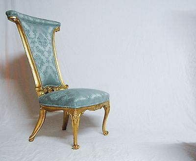 Rare Giltwood Drawing Room Conversational Chair Or Prie Dieu By Miles & Edward