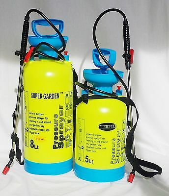 8L Litre High Quality Pressure Sprayer Knapsack Weed Killer Garden Chemical Pump