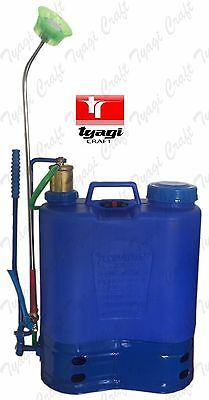 16L Litre Quality Pressure Sprayer Knapsack Weed Killer Garden Chemical Pump