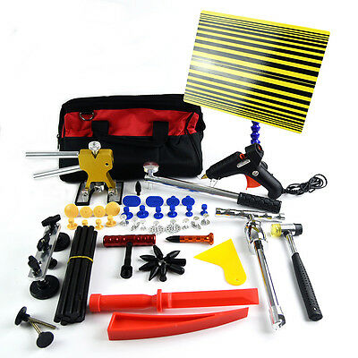 PDR Tools Kit Repair hammer Wedge T Puller Paintless Dent Hail Removal Tool