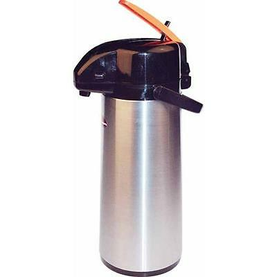 Winco - APSK-725DC - 2 1/2 L Stainless Steel Lined Decaf Airpot with Lever Top