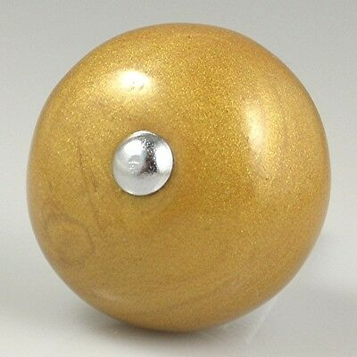 4 Pieces Of Pearlescent Ceramic Knobs - Gold Onion