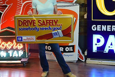GM CHEVROLET DEALERSHIP SIGN Accessory Parts Advertising 60's 70's Rare